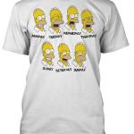 Tričko Homer Simpson dny v týdnu