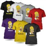 Set triček Homer Simpson – dny v týdnu